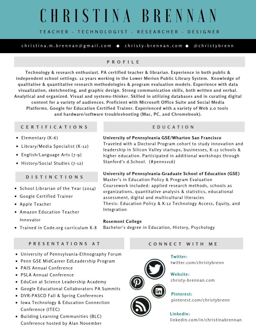 CBrennan Resume - Fall 2018